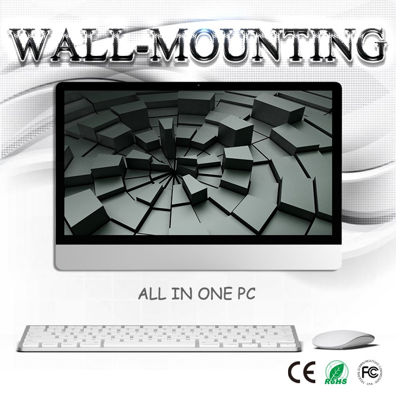 500GB Hard Drive Fanless low power gtx 960 27 inch Wall-mounting AIO desktop pc with Bluetooth and CPU 3.2GHz G3250