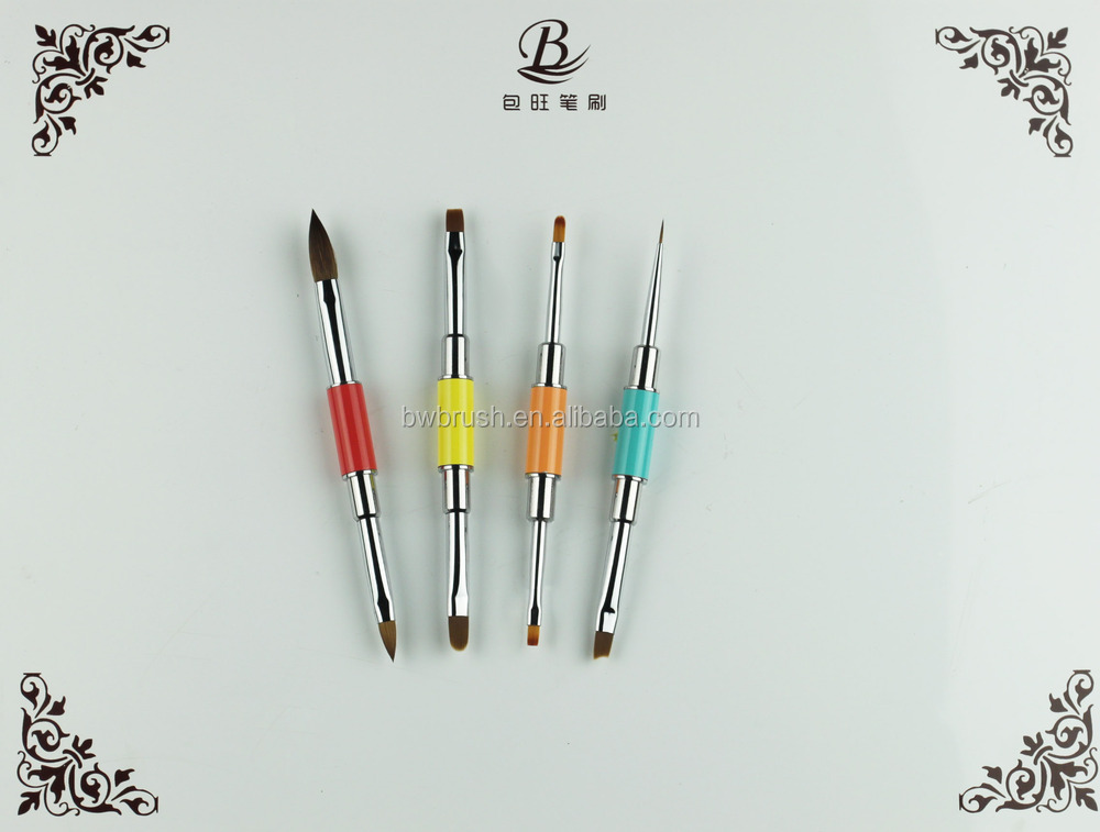 2015 new series nail art brush kolinsky hair 2side brush