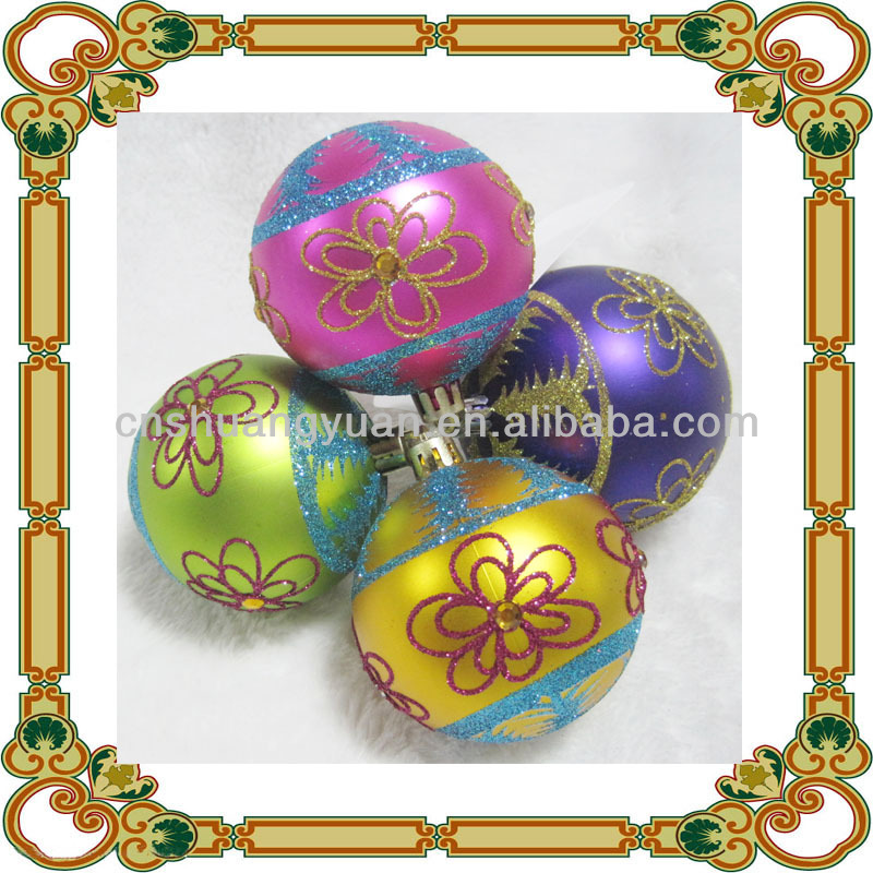 6cm New Plastic Painted Christmas Ball Decoration