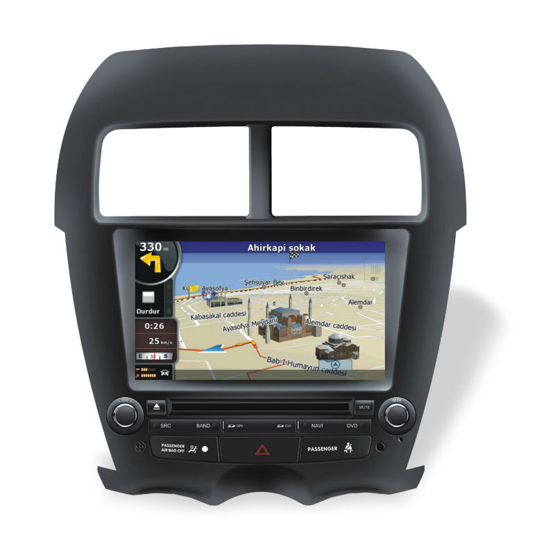 Citroen C4 aircross GPS navigation multimedia DvD USB Bluetooth carkit SD iPod iPhone interface