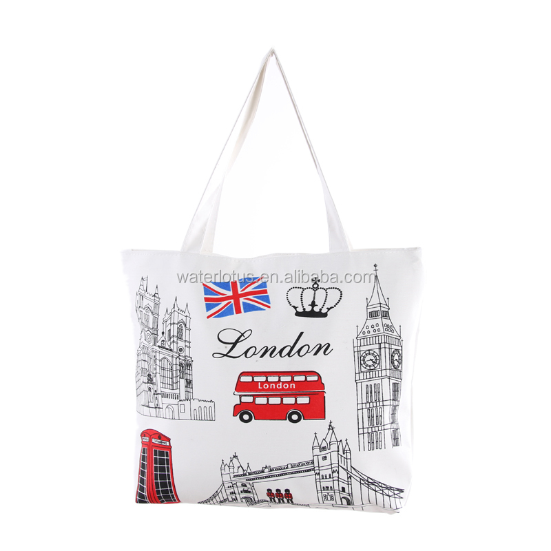 Supermarket promotional shopping bags Easy fold canvas bag hand bag for shopping