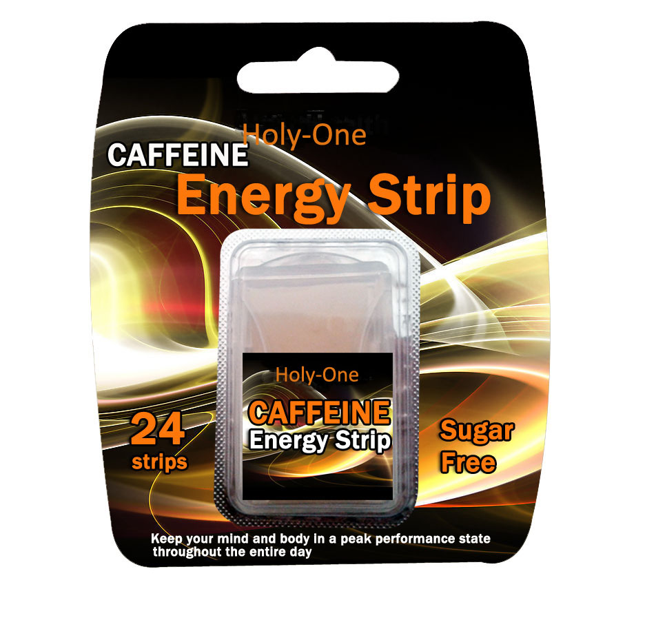 Caffine energy strips