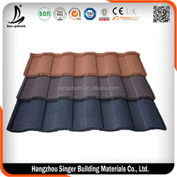 SGB Stone Coated Metal Roof Tile/Aluminum Zinc Roofing Shingle/Colorful Sand Coated Steel Roof