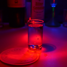 Bar favor colorful light LED shot Wine Glass