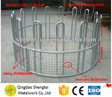 Galvanized or powder coated oblong round square hay bale cattle feeder