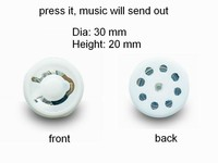 ABS plastic customized white round music box for plush toy with mickey toy
