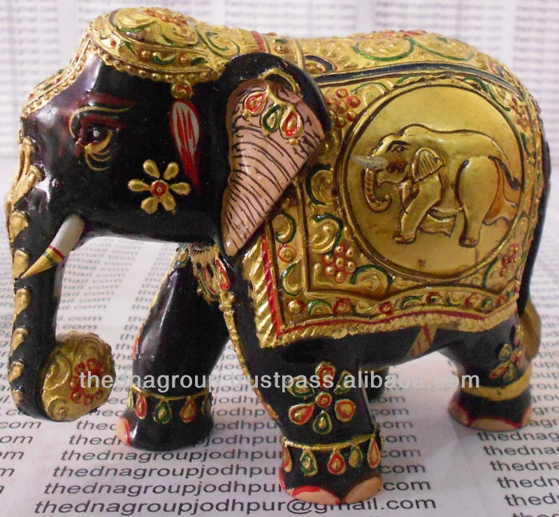 Wooden hand carved elephant