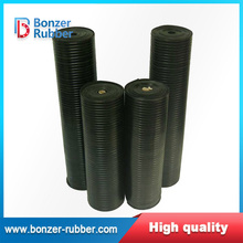 Nanjing Bonzer black color commercial grade wide rib rubber flooring