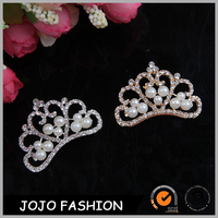 Hair accessories fashion gold crystsal crown for party kid hair accessory