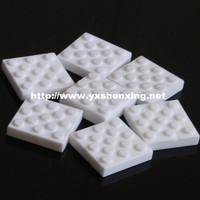Industrial square insulating 95% alumina ceramic wearble plate