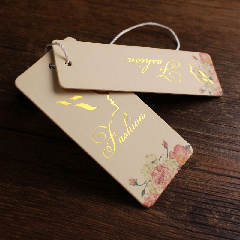 recycled paper garment hang tag clothing hangtags and labels printing