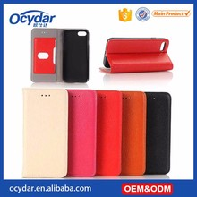 Excellent Quality Lychee Genuine Leather Flip Case for iPhone 7, 5 Colors Available