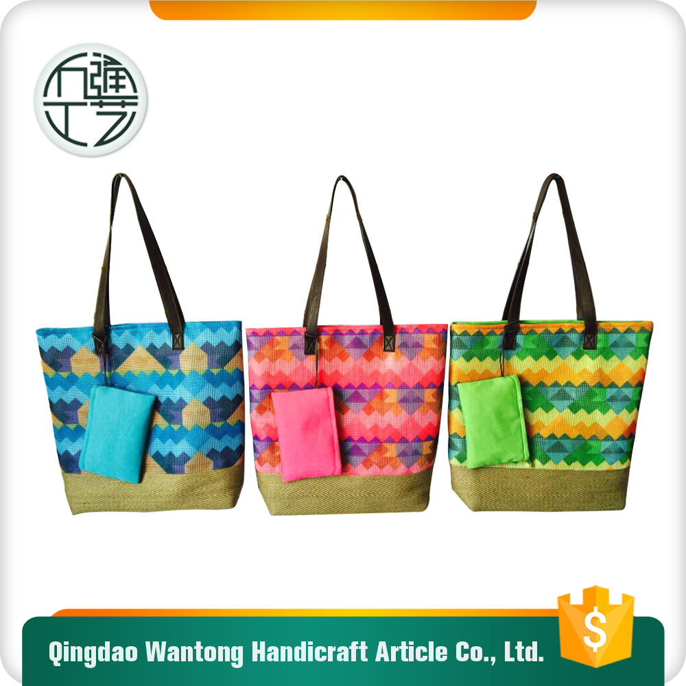 band handle beach bag for women