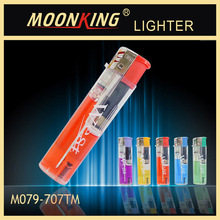 cheap transparent disposable lighter,piezo lighter, electronic gas lighter with 5 colors