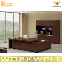 WORKWELL Wooden Executive Office Table With Side Table S4-258B