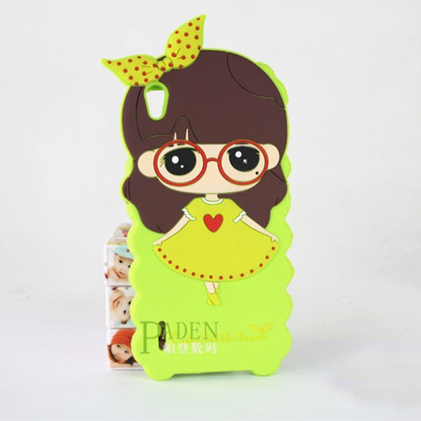Cute Cartoon Silicone Soft Case Cover For Huawei Ascend P6