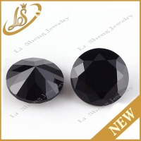 Factory price round loose gemstone black nano stone