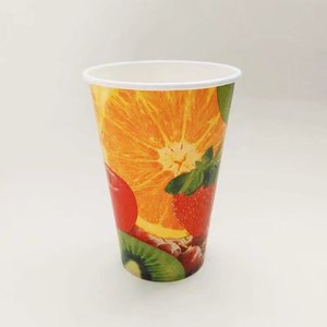 wholesale disposable cold drink paper cup for beverage