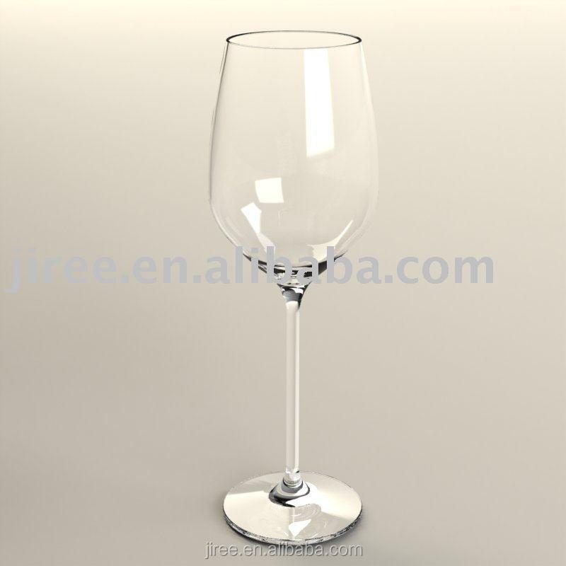 gros plastique transparent verre de vin avec tige mince. Black Bedroom Furniture Sets. Home Design Ideas