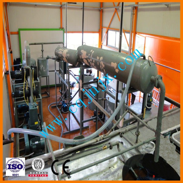 Best price machine to process turbine oil/motor oil/marine oil into base oil ! ZSA china waste engine oil distiller