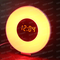 Touch Control Sunrise/Sunset Simulation Wake UP Lights Alarm Clock with Nature Sounds and Snooze Function