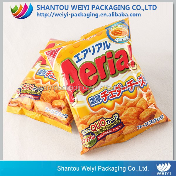 wholesale custom design potato chips packaging film plastic wrapper