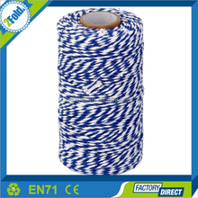 Cotton Twine Kitchen String Cooking Twine Bakers Twine 100M (Navy Blue White)