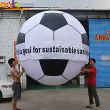 Custom made big size round shape inflatable soccer football ball for events