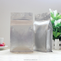 High grade low price food packing plastic aluminum foil silver packaging bag