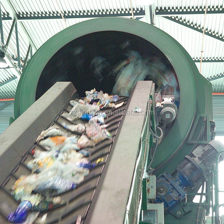 Heavy duty construction municipal solid waste drum screen price for garbage sorting line