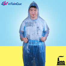 LDPE plastic rain suits whole body cover
