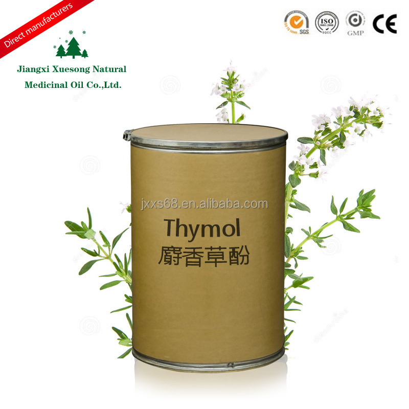 Factory supply 100% pure thymol crystal