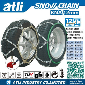 ATLI KNA12mm steel zinc plated car anti skid chain for car snow chain