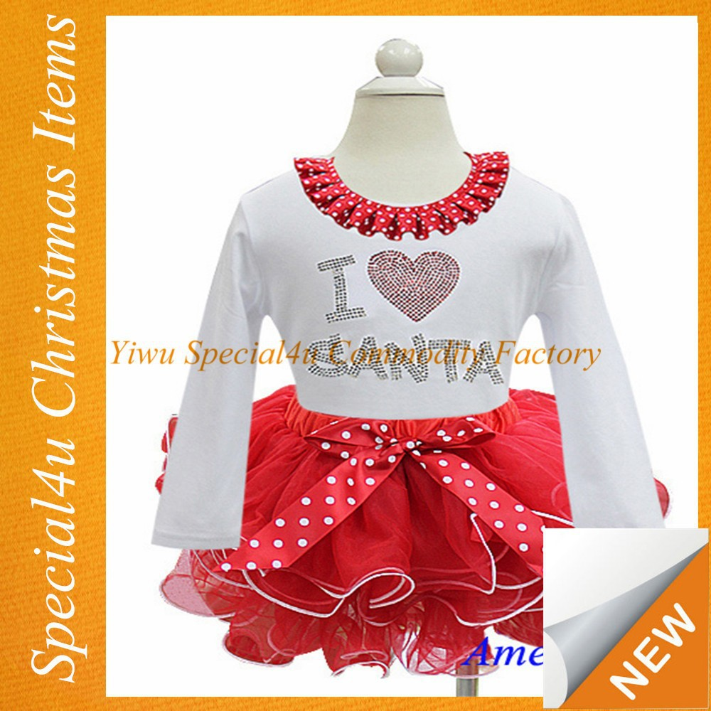 Wholesale latest 1-6 years old baby girl dress kids christmas winter long sleeve tutu party dress SYCI-090