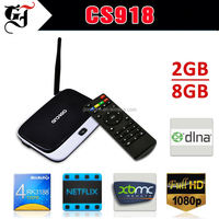 2015 classical Products Quad Core RK3188T Android Smart CS918 TV Box With Skype XBMC youtube