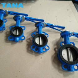 Cast iron rubber seal EPDM seat wafer type butterfly valve DN150 price