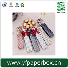 Long shape recycled paper customized gift box for scarves packaging product