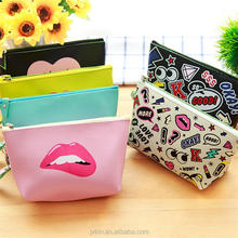 Yiwu Wholesale manufacturers shimo cosmetic storage bag waterproof portable pu colorful makeup bag