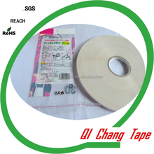 PE liner printing double sided glue re-sealing PP clothes and toy bags self adhesive tape