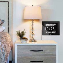 Auto digital flip calendar day wall with temperature memory loss clock