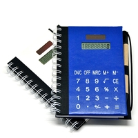 Notebook with Pen Attached,Spiral Notebook with Calculator
