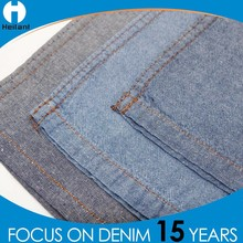 china cheap price 5oz light weight non stretch organic 100% cotton denim fabric for woman jeans pants in Spring Summer