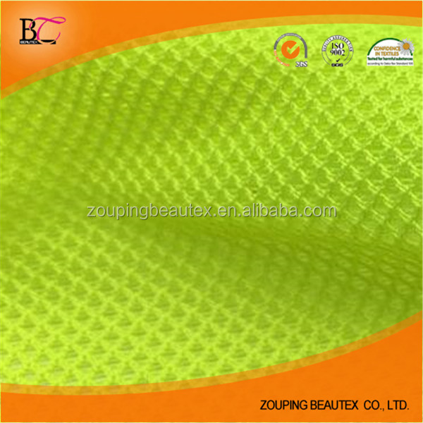 Hot sale neon green polyester sport mesh fabric for hat