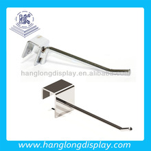 chrome metal tube display hook