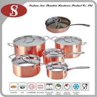 Hot selling 3ply copper utensil set for turkish