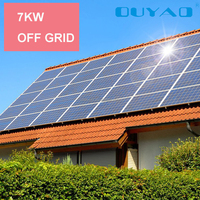7kw off grid solar power system, solar kit system for home,hotel,industry