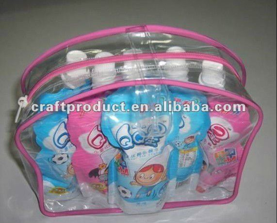 0.25MM 2012 PVC plastic hot product cosmetic zipper bags