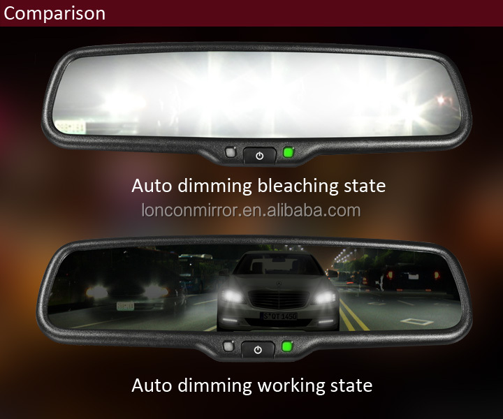 Auto dimming rearview mirror radar detector hd car rearview mirror car digital rearview mirror