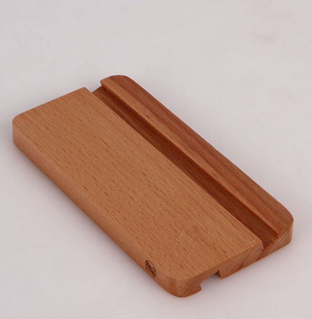 Universal Real Beech Wood Stand Holder for iPad Samsung Tablet PC Simple design