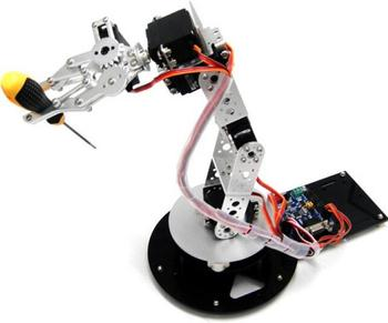 AS-6DOF Aluminium Robotic Arm Humanoid Educational Robot Arm